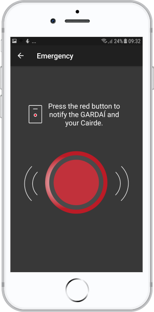 cairde panic button